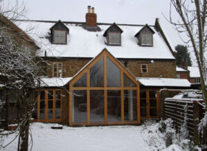 Glazed extension to rear of traditional house: Braunston, Northamptonshire 2