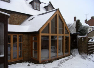 Glazed extension to rear of traditional house: Braunston, Northamptonshire 1